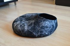 Cat bed - cat house - handmade felted wool cat bed - felt cat cave - ready to ship