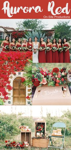 Pantone 2016 Fall Color Report: Aurora Red is a bold color that shows off confidence--perfect for a Fall wedding or a Christmas wedding.