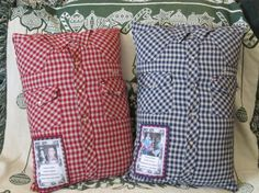 Memory Shirt Pillow w Collar Poem-Patch by ElkCountryLDhaseleer