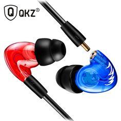 Earphone QKZ W3 Copper Driver Ear Hook HiFi In Ear Earphone Sport Headset For Running With Microphone fone de ouvido
