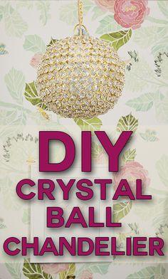 diy_crystal_ball_chandelier