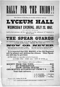 Civil war union recruitment posters
