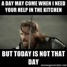 Sometimes, certain people in the kitchen on Thanksgiving just make it more difficult to do your job... #humor #funny