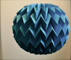 Pretty rad. Hanging decorative folded paper bubble ball TURQUOISE by tyART via Etsy.