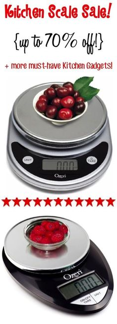 Digital Food Scale Sale and more Must-Have Kitchen Gadgets {perfect for weighing and measuring in the kitchen, and the easiest trick for portion control!} | TheFrugalGirls.com