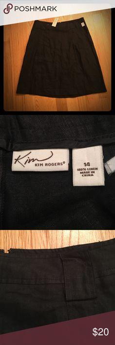 NWT Black Linen Skirt NWT Kim Rogers black Linen Skirt. Great condition. Belt loops on top. Lightweight and fun. Kim Rogers Skirts Midi