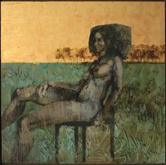 'Nude' by Charles Billich - Oil and Gold Leaf on Board South African Art, Online Gallery, Gold Leaf, Nude, Oil, Board, Painting, Painting Art, Paintings