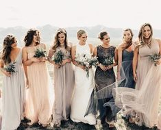 Earth tone bridesmaid dresses: Mix and match bridesmaid dresses #bridesmaiddresses #weddings