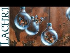 Time lapse surreal Butterfly and lightbulb acrylic & Airbrush speed painting by Lachri - YouTube