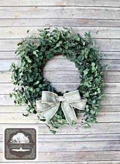 Spring Wreath  Eucalyptus Wreath  Wreath  by TheSeptemberTree