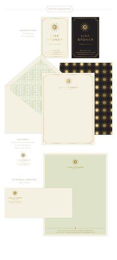 Emily McCarthy | Lisa Stoner Print Materials | www.emilymccarthy.com #branding