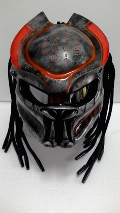 Color : As picture We use full helmet DOT as its base and Carbon great Fiber for Predator parts. Helmet come with Red Tri-Laser (LED) with on-off switch. Size : L Other size please feel free contact U