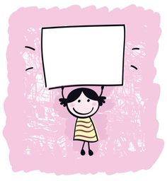Happy cute little girl holding empty blank banner - cartoon illustration Blank Banner, Girls Hand, Cute Little Girls, Print Artist, Talking To You, Cool Artwork, Metal Art, Creative Business, New Art