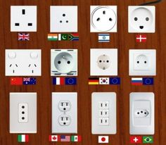 All the different international plugs sure confuse me!  We have a multi-plug adapter kit for our travels.