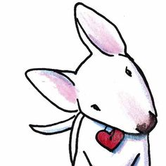 Cartoon Bull Terrier - Cliparts.