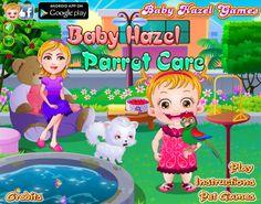 Join Baby Hazel in taking care of her new pet, a delicate bird - Charlie http://www.babyhazelgames.com/games/baby-hazel-parrot-care.html