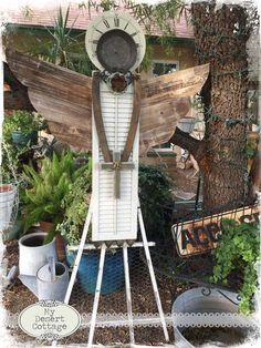 **My Desert Cottage**: Found Object Angels