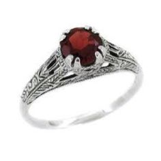 Garnet ring. Breathtaking. My favorite stone, & I am really not a expensive jewelry person.