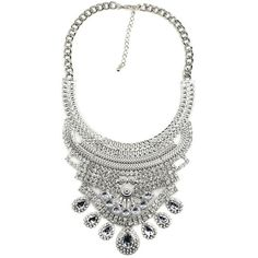Trendy Chunky Fashion Silver Statement Necklace
