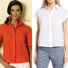 Sew the Look: Butterick B6324 eyelet top sewing pattern
