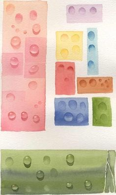 How to paint waterdrops or dew drops in watercolor - Susie Short's Free watercolor painting tips! by Hersuziness