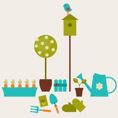 I need to practice in illustrator!  Create a Garden Scene with Basic Shapes in Adobe Illustrator