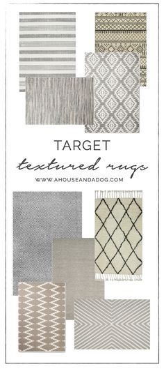 Textured & Neutral Rugs - A House and a Dog