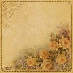 Vintage Scrapbook Paper ~ Violeta lilás Vintage