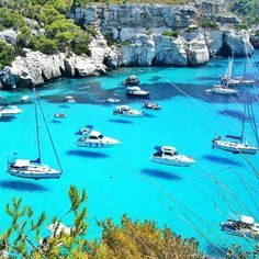 """The crystal blue waters of Menorca are a great place to spend the day on a boat.  via @thisisamans.world ━━━━━━━━━━━ All week long we will be featuring the Spain. Hashtag your best pictures/videos taken in #spain #espana #ibiza #mallorca  #minorca and #formentera with #luxwt or #luxuryworldtraveler for a chance to be featured. #luxwtspain ━━━━━━━━━━ """"Dream Big, Eat Well & Travel ━━━━━━━━━━"""