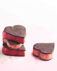 Valentine Sorbet Sandwiches
