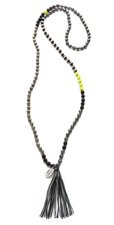 Chan Luu Beaded Necklace with Tassel | Amazon.com's SHOPBOP SAVE 25% use Code:GOBIG14