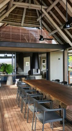 @marlanteak Illum chairs by @tribu_official, used on the outdoor deck overlooking the Crocodile river. #andreagraff interior design bush lodge. Part of @marlanteak #weloveourtrade competition. Please like and share.