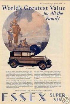 Essex 4-door Sedan Color (1928)