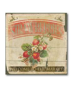 Take a look at this 'Strawberries' Canvas Wall Art by COURTSIDE MARKET on #zulily today!