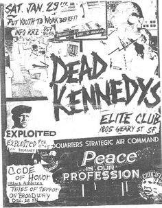 Strategic Air Command, Dead Kennedys, New Flyer, Concert Flyer, Psychobilly, New Wave, Cover Art, Punk, Peace