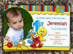 Sesame Street Babies Birthday Invitation by FreckledExpressions, $12.00