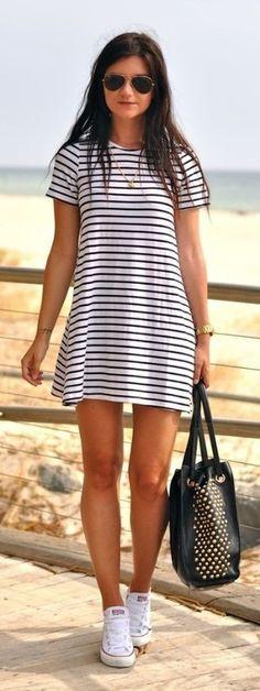 Shirt dress monochrome #dress #buyable