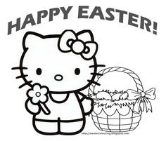Hello Kitty Happy Easter Coloring Pages Easter Colorings Easter