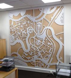 Northwood (Telford) - Fret Cut Foamex Wall Map. #Wallmap #EstateAgents #Signage