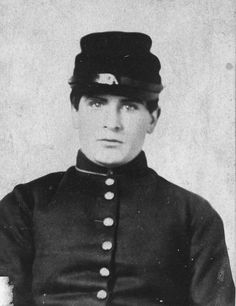 William McKinley as a young private in the Civil War.  He served with the 23rd Ohio Volunteer Infantry under the command of Rutherford B. Hayes, also a future President of the United States.