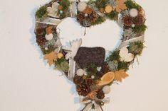 """Herbst-Herz """"lustiger Elch"""" von MIA-Floristik auf DaWanda.com"""