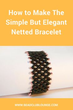 Best Seed Bead Jewelry 2017 Learn how to make a simple but elegant seed bead Netted Bracelet using this vert Seed Bead Bracelets Tutorials, Beaded Bracelets Tutorial, Beading Tutorials, Beading Ideas, Beads Tutorial, Beading Patterns Free, Seed Bead Patterns, Free Pattern, Weaving Patterns