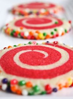 sprinkled pinwheel cookies