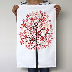 Spring Japanese Cherry Blossom Tree Towel