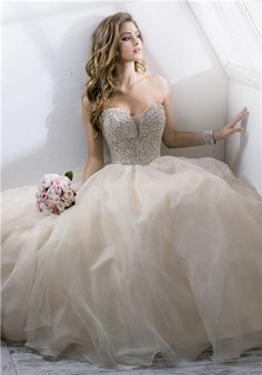 Organza ballgown with beaded swarovski crystal bodice // Angelette 4SS811 from Sottero And Midgley