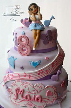 Girl on music cake