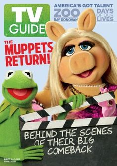 August Kermit the Frog and Miss Piggy of The Muppets Ray Donovan, Fraggle Rock, The Muppet Show, Miss Piggy, Life Guide, Kermit The Frog, Jim Henson, Vintage Tv, Tv Guide