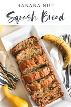 This recipe for banana nut squash bread has a perfectly soft inside, lightly crunchy outside and has freshly grated yellow summer squash inside that brings extra moistness to the bread. Grab a warm slice with a pad of butter and you're in for a real treat! Easy Dinners For Two, Easy Healthy Dinners, Easy Dinner Recipes, Breakfast Recipes, Dessert Recipes, Dinner Healthy, My Favorite Food, Favorite Recipes, Squash Bread