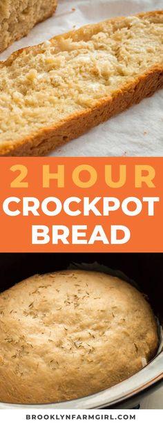 Slow Cooker Recipes, Crockpot Recipes, Cooking Recipes, Crock Pot Bread, Bread Crockpot, Easy Bread Recipes, Sweet Bread Recipe Easy, Best Homemade Bread Recipe, Dessert Recipes