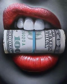 Put Your Money Where Your Mouth Is Canvas Print / Canvas Art by Peter Perlegas Lip Art, Design Tattoo, Tattoo Designs, Arte Dope, Money Tattoo, Chicano Art, Chicano Tattoos, Red Lips, Cross Stitch Embroidery